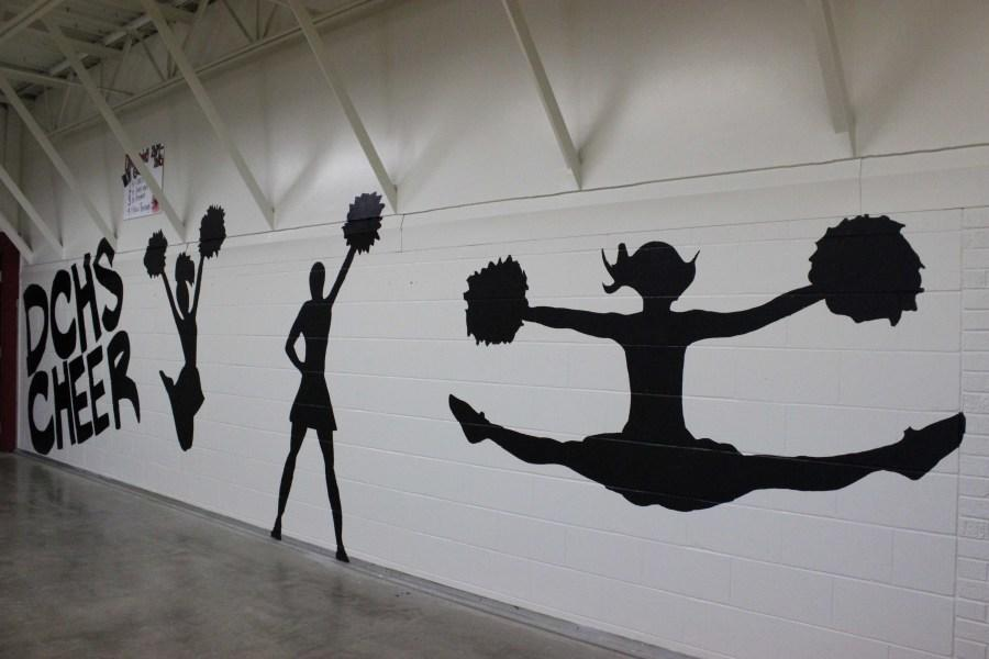 The latest scoop cheer and dance teams gain home through for Cheerleader wall mural
