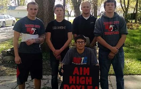 Scout wrestlers contribute to recovery of injured wrestler Doyle Trout