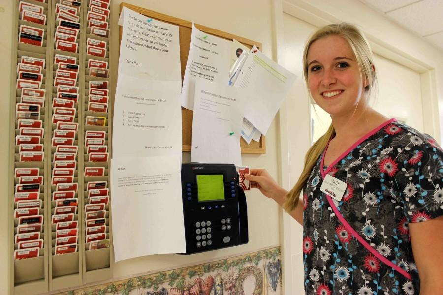 Senior Macy Grotelueschen keeps her schedule open by working when she can during the school year. Grotelueschen worked most days during the summer, but cut down to weekends when school started.