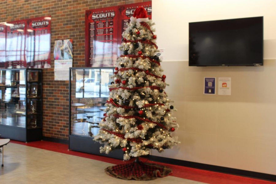 DCHS Christmas Dress-Up Days: Christmas trees are set up throughout the school to show Christmas spirit.