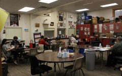 Mr. Ockanders 4th period Speech class focuses on end of the year work.